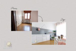 BIANCO E ORO cucina Home Staging
